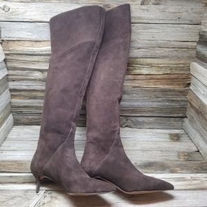 Nine West Heelium Suede Chocolate Boots Heels
